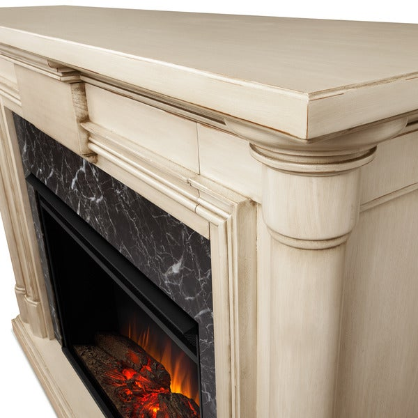 Real Flame Maxwell Grand Whitewash Electric 57.6-inch Fireplace ...