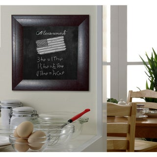 American Made Rayne Espresso Leather Blackboard/Chalkboard