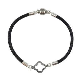 Bella Firenze Cubic Zirconia Clover Link Bracelet