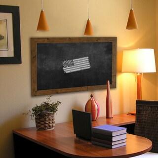 American Made Rayne Rustic Light Walnut Blackboard