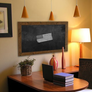 American Made Rayne Rustic Light Walnut Blackboard