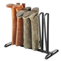 Whitmor Black 3-Pair Boot Organizer Rack  - Preserves Boot Shape - Retains Boot's in Upright Position - Fits Most Boot Sizes