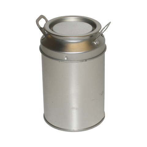 Miniature Metal Milk Can with Handles/ Lid (Set of 2)