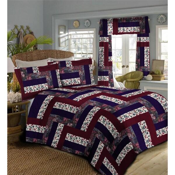 Shop Caledonia Oversized Burgundy Bedspread Free