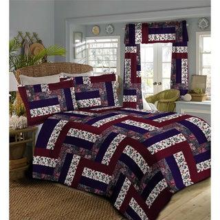 Caledonia Oversized Burgundy Bedspread