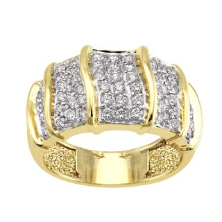 Beverly Hills Charm 14k Yellow Gold 3/4ct TDW Diamond Pave Ring (H-I, SI2-I1)
