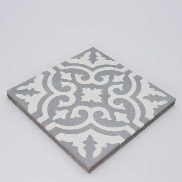 Shop Argana Grey White Moroccan Tiles Free Shipping On
