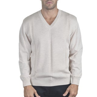 Men's Merino Fancy V-Neck Sweater
