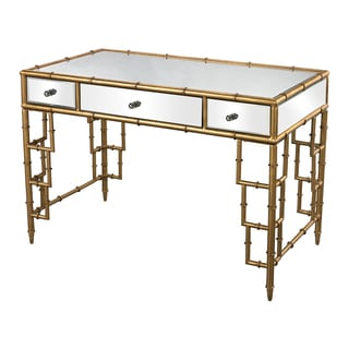 Tunbridge Mirror Top Desk with Bamboo Frame