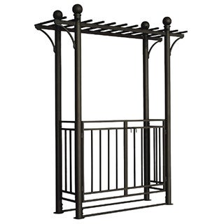 Toscana Arbor with Gate & Pergola Style Top