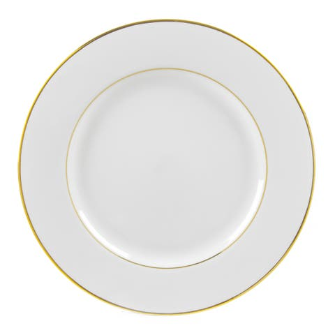 Gold Double Line Charger Plate (Set of 6)