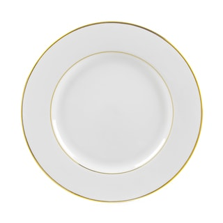 10 Strawberry Street Gold Double Line Dinner Plate (Set of 6)