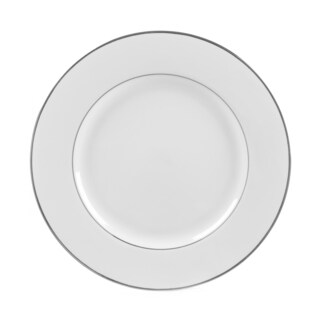 10 Strawberry Street Silver Double Line Dinner Plate (Set of 6)