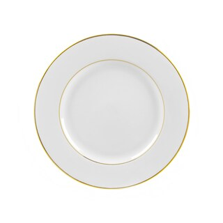 10 Strawberry Street Gold Double Line Luncheon Plate (Set of 6)