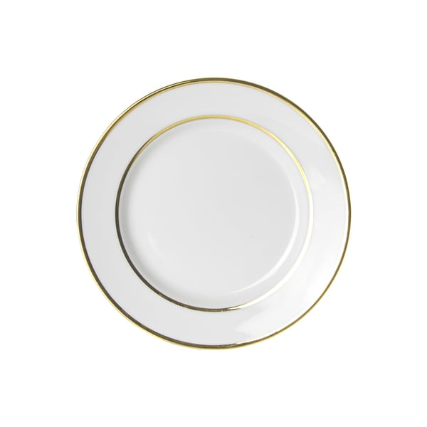 Gold Double Line Salad/ Dessert Plate (Set of 6)  sc 1 st  Overstock & Gold Double Line Salad/ Dessert Plate (Set of 6) - Free Shipping ...