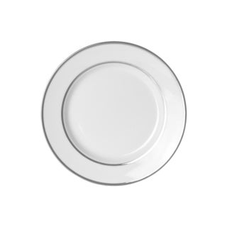 10 Strawberry Street Silver Double Line Salad/ Dessert Plate (Set of 6)
