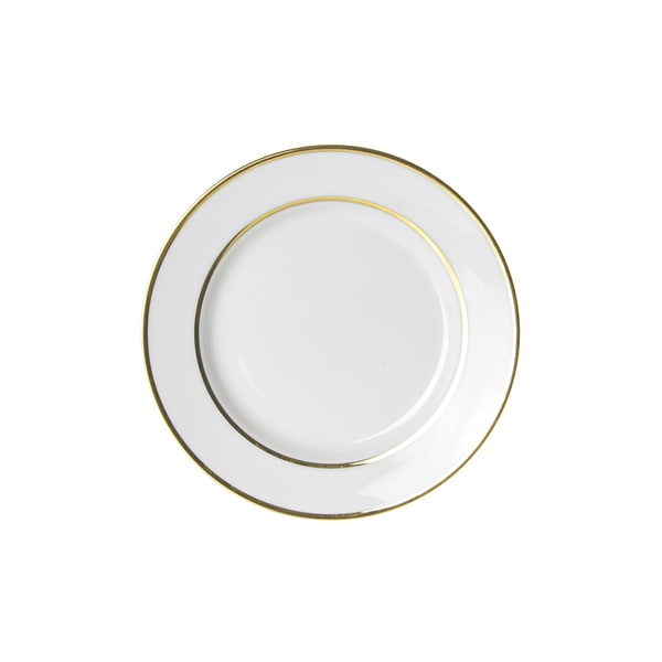 10 Strawberry Street Gold Double Line Bread and Butter Plate (Set of 6). Opens flyout.