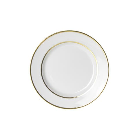 10 Strawberry Street Gold Double Line Bread and Butter Plate (Set of 6)