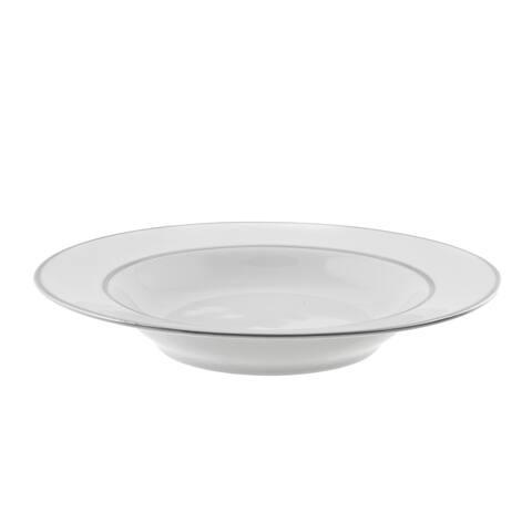 10 Strawberry Street Silver Double Line Rim Soup (Set of 6)
