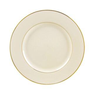 10 Strawberry Street Cream Double Gold Dinner Plate (Set of 6)