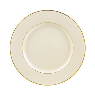 10 Strawberry Street Cream Double Gold Dinner Plate (Set of 6)