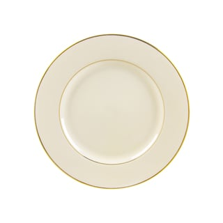 Cream Double Gold Luncheon Plate (Set of 6)