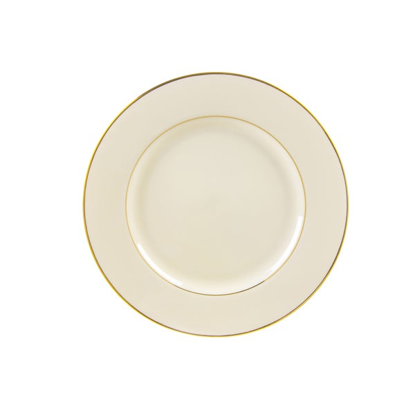 10 Strawberry Street Cream Double Gold Salad/ Dessert Plate (Set of 6). Opens flyout.