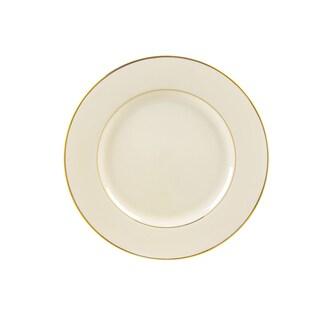 10 Strawberry Street Cream Double Gold Salad/ Dessert Plate (Set of 6)