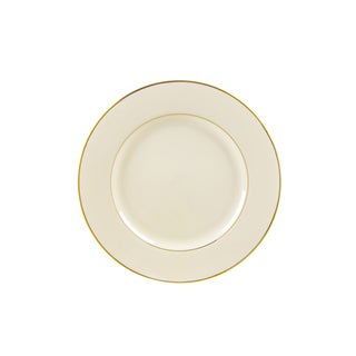 10 Strawberry Street Cream Double Gold Bread and Butter Plate (Set of 6)
