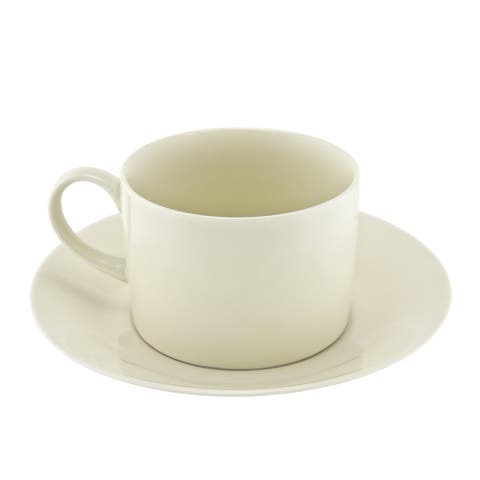 10 Strawberry Street Royal Cream Collection Can Cup/ Saucer (Set of 6)