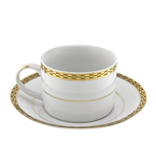 Athens Gold Can Cup/ Saucer (Set of 6)