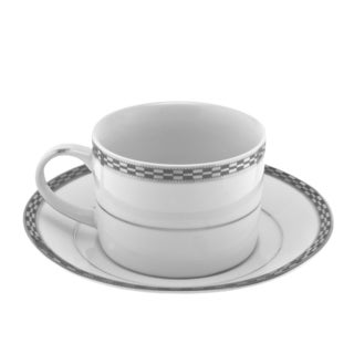 Athens Platinum Can Cup/ Saucer (Set of 6)