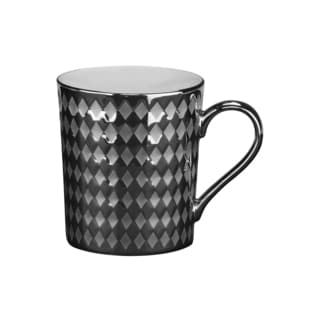 Cairo 12-ounce Mug Silver (Set of 6)