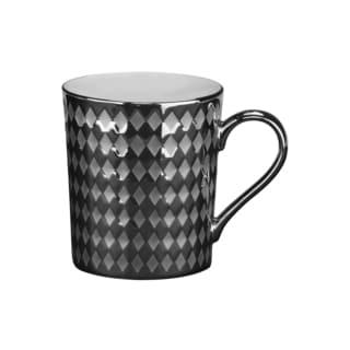 10 Strawberry Street Cairo 12-ounce Mug Silver (Set of 6)