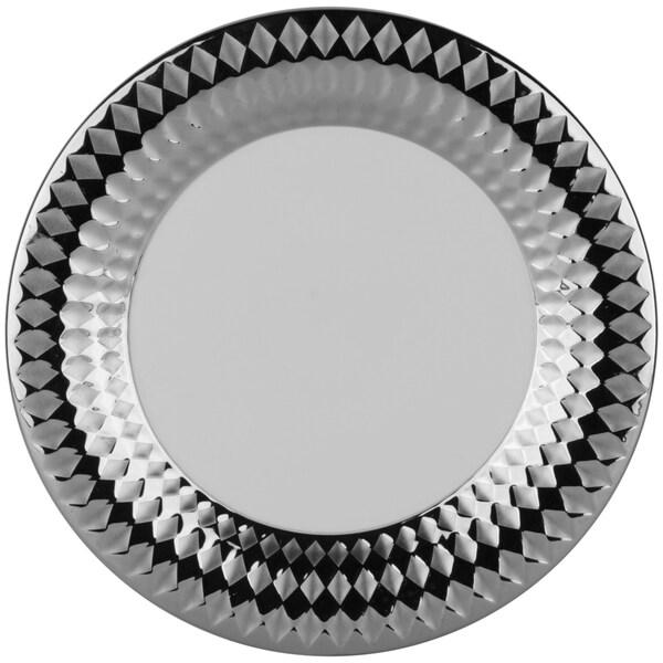 10 Strawberry Street Cairo 10.5-inch Dinner Plate Silver (Set of 6)  sc 1 st  Overstock.com & 10 Strawberry Street Cairo 10.5-inch Dinner Plate Silver (Set of 6 ...