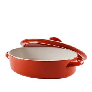 10 Strawberry Street Sienna Red Oval Bakeware With Lid 10-inch