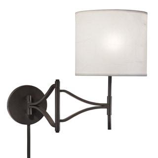 1light bronze swing arm pinup plugin wall lamp