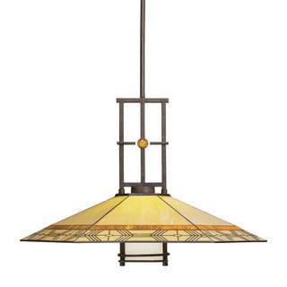 Transitional 1-light Olde Bronze Pendant