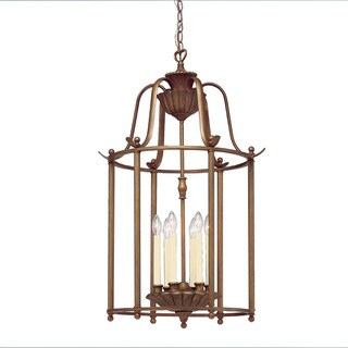 Traditional 6-light Parisian Bronze Foyer Fixture