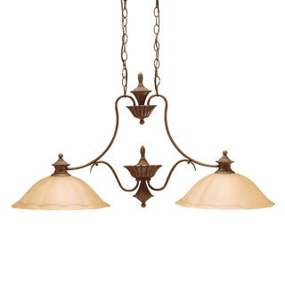 Traditional 2-light Parisian Bronze Island Fixture