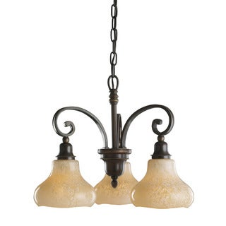 Transitional 3-light Oiled Bronze Chandelier