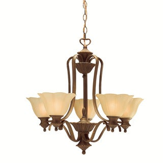 Traditional 5-light Parisian Bronze Chandelier