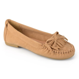 Journee Kid's Girl's 'Amelia' Faux Suede Fringed Loafers