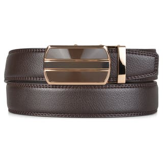 Vance Co. Men's Genuine Leather Adjustable Ratchet Belt|https://ak1.ostkcdn.com/images/products/10680092/P17743556.jpg?impolicy=medium