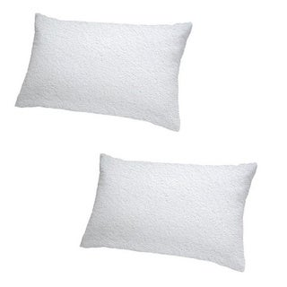 Cheer Collection Terry Cotton Waterproof Pillow Protector (Set of 2)