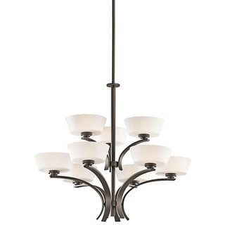 Contemporary 9-light Olde Bronze Chandelier