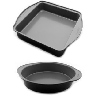 Earthchef Round and Square Cake Pan Set