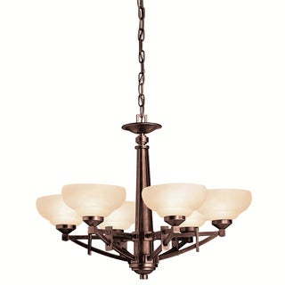 Contemporary 6-light Olde Auburn Chandelier