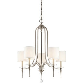 Transitional 5-light Antique Pewter Chandelier