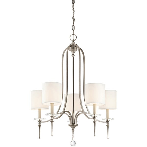 Transitional 5-light Antique Pewter Chandelier - Transitional 5-light Antique Pewter Chandelier - Free Shipping Today